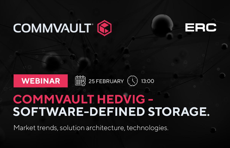 """Commvault Hedvig – software-defined storage system. Market trends, solution architecture, technologies "" webinar"