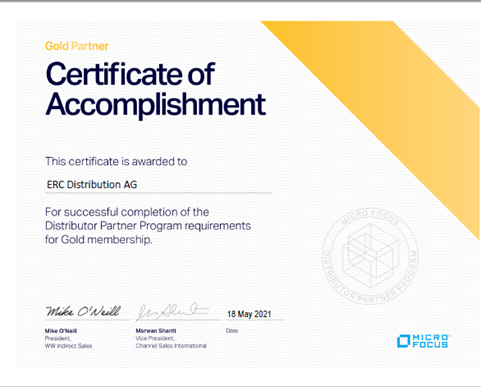 Micro Focus Gold Value Added Distributor!