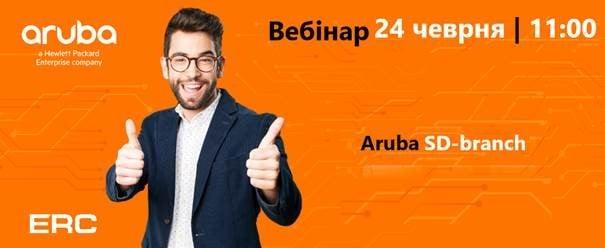 Приглашаем вас на вебинар «Aruba SD-branch»